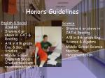 honors guidelines