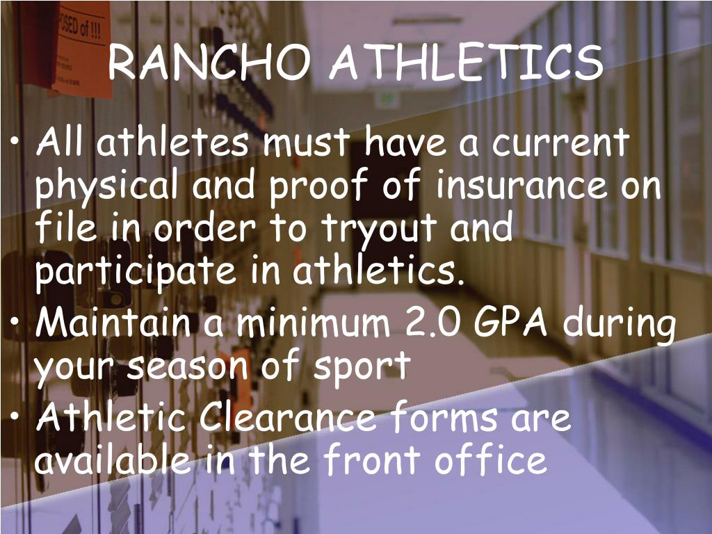 RANCHO ATHLETICS
