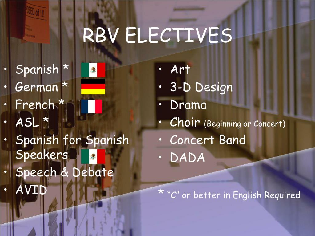 RBV ELECTIVES
