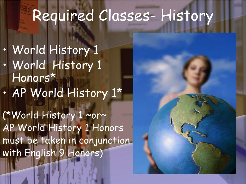 Required Classes- History