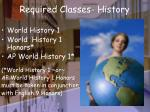 required classes history
