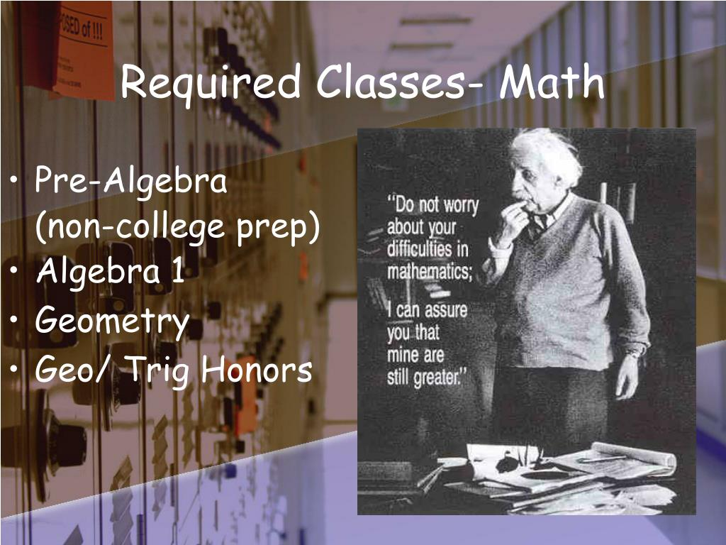 Required Classes- Math
