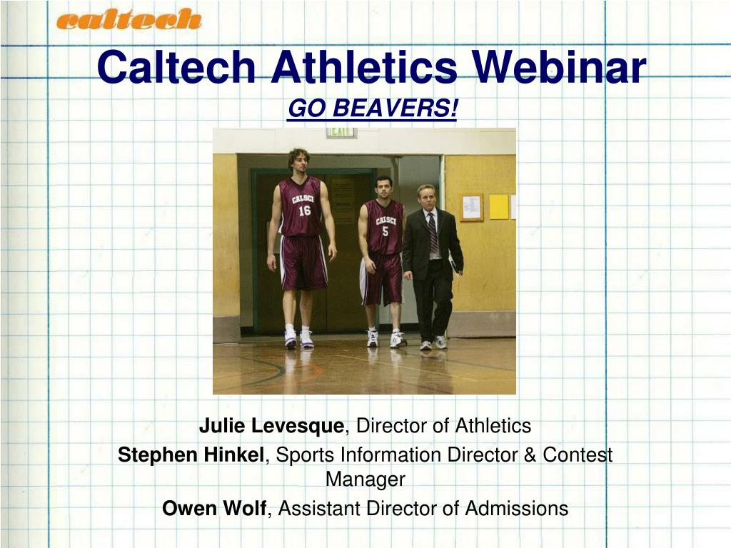 Caltech Athletics Webinar