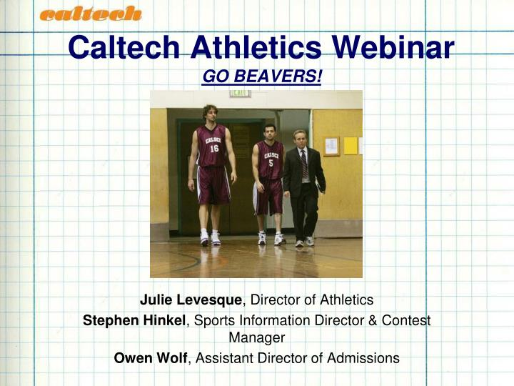 Caltech athletics webinar go beavers