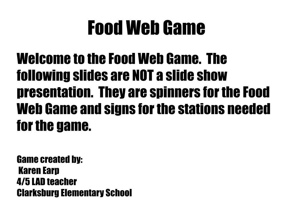 Food Web Game