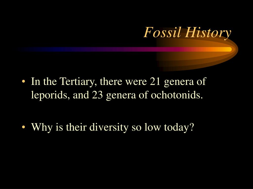 Fossil History