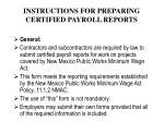 instructions for preparing certified payroll reports