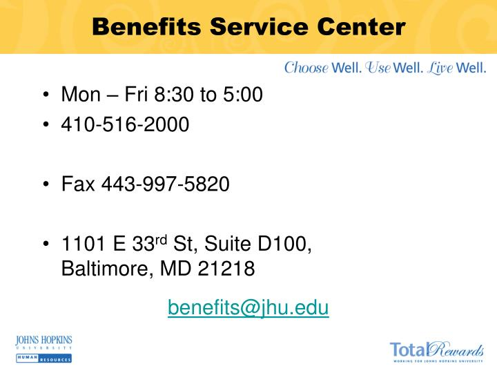 Benefits Service Center