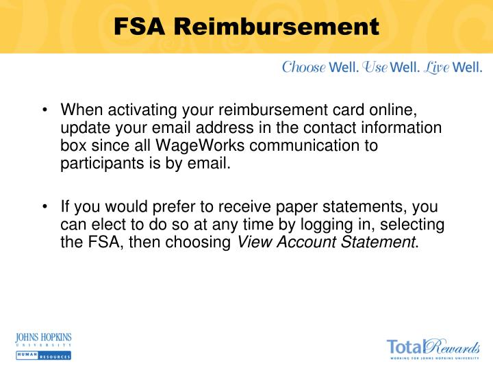 FSA Reimbursement