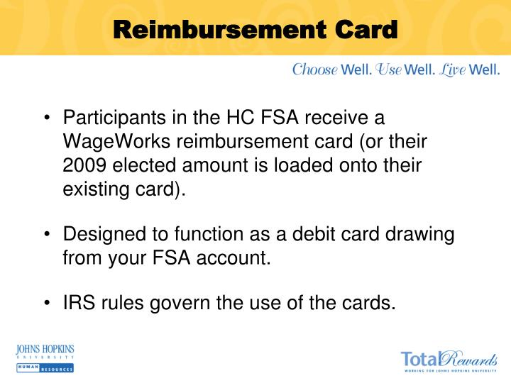 Reimbursement Card