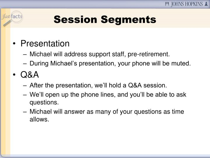 Session Segments