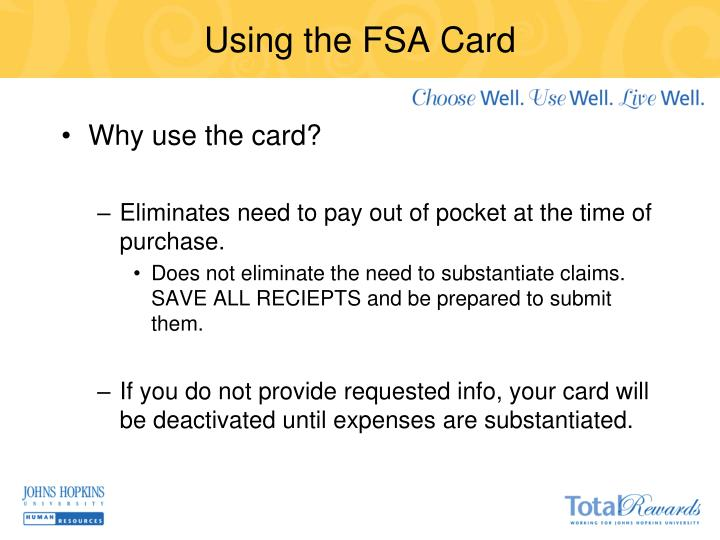 Using the FSA Card