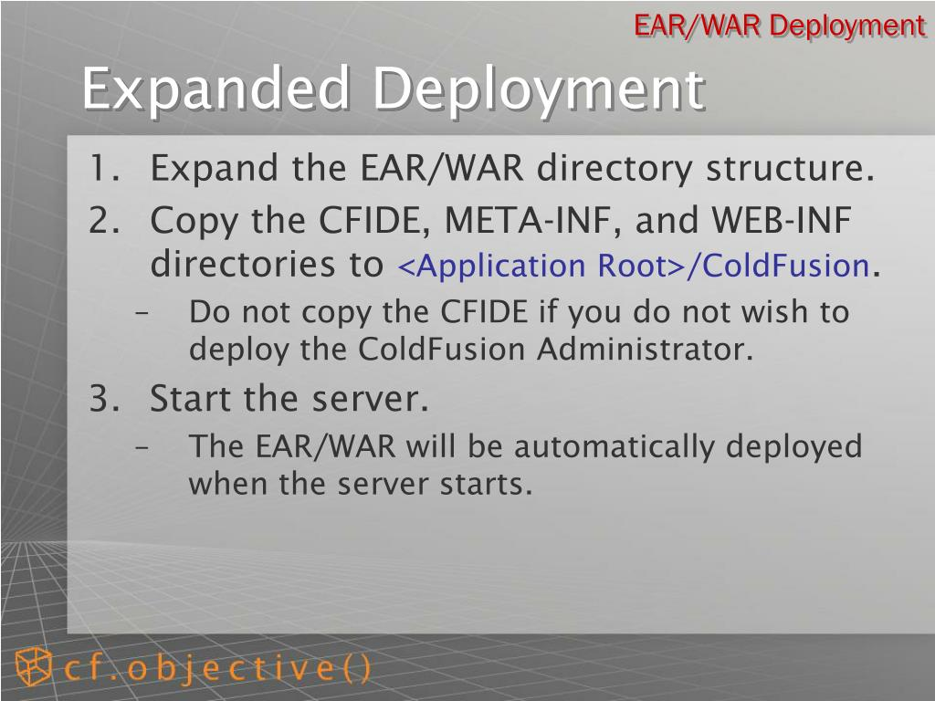 EAR/WAR Deployment