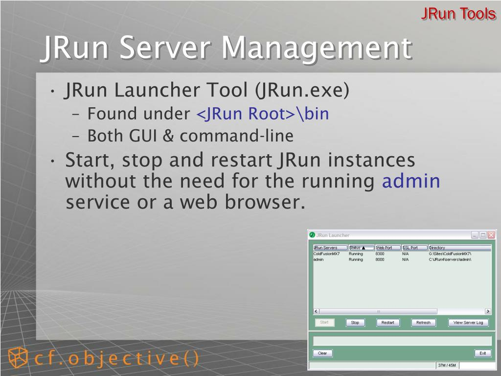 JRun Tools