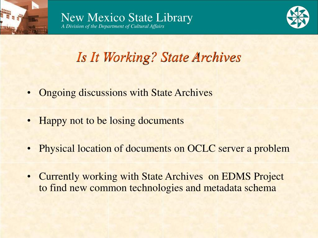 Is It Working? State Archives
