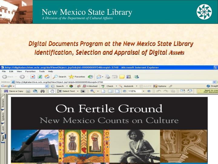 Digital Documents Program at the New Mexico State Library