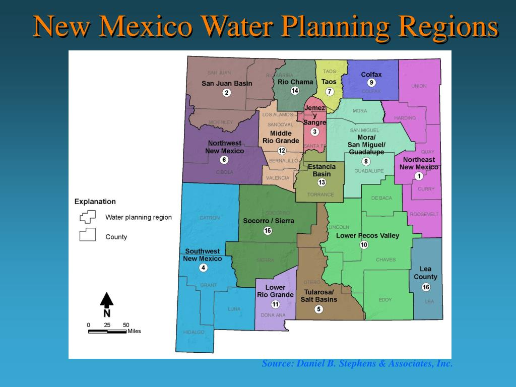 New Mexico Water Planning Regions