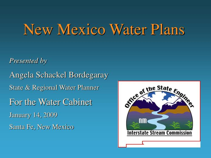 New mexico water plans