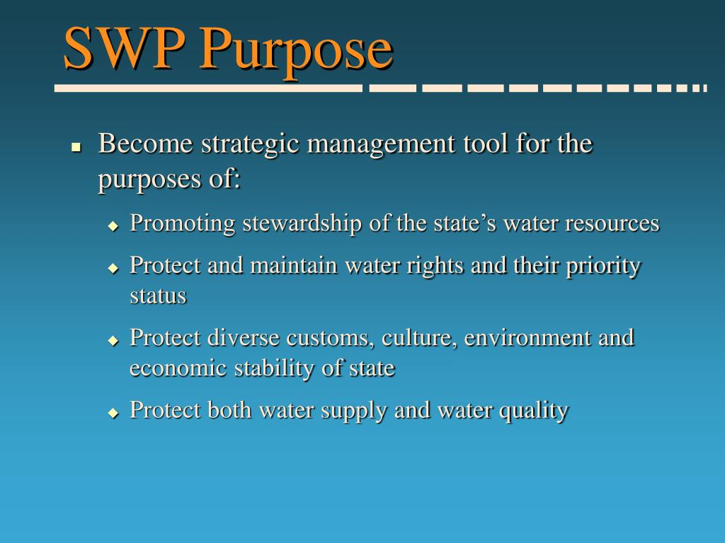 SWP Purpose