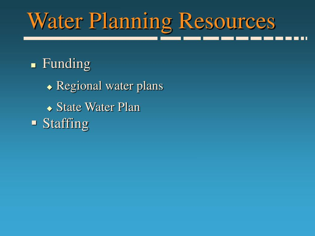 Water Planning Resources