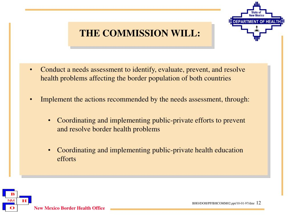 THE COMMISSION WILL: