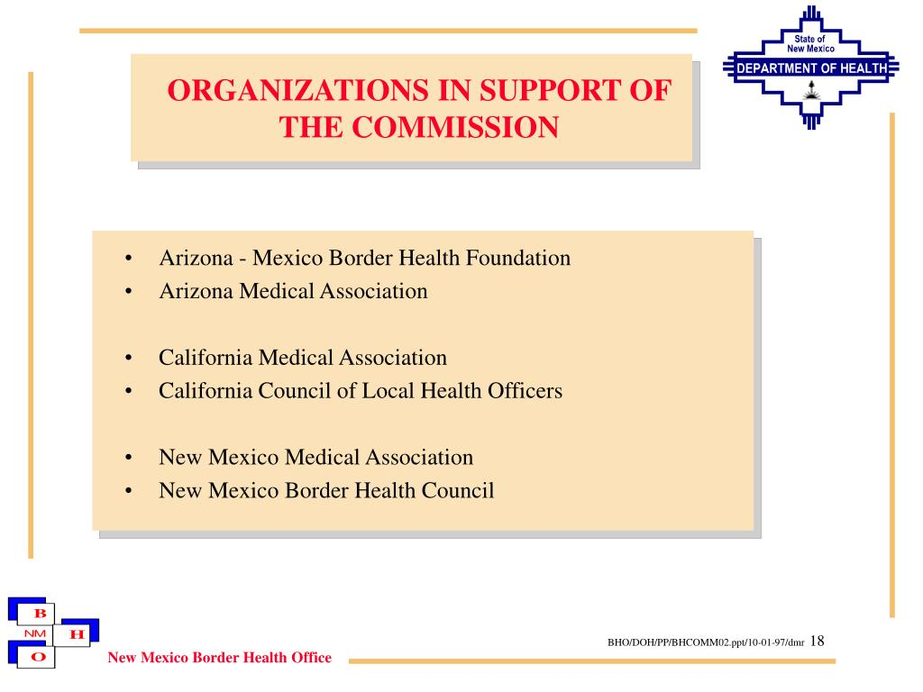 ORGANIZATIONS IN SUPPORT OF THE COMMISSION
