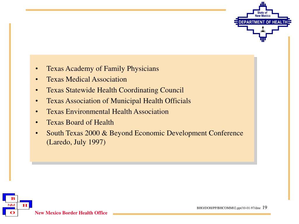 Texas Academy of Family Physicians