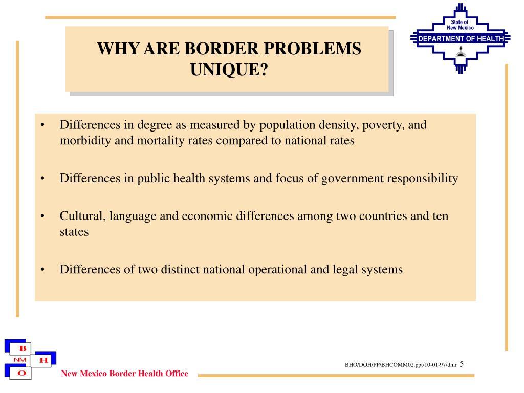 WHY ARE BORDER PROBLEMS UNIQUE?