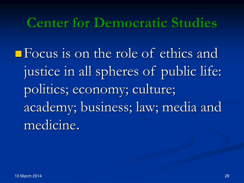 Center for Democratic Studies