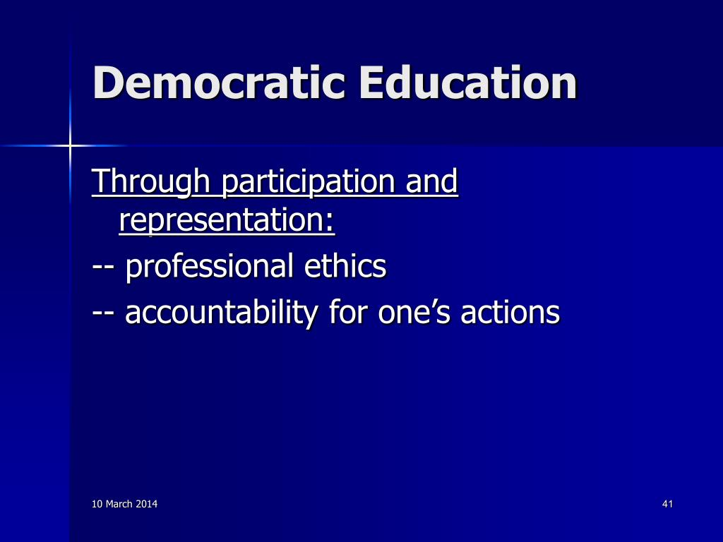 Democratic Education