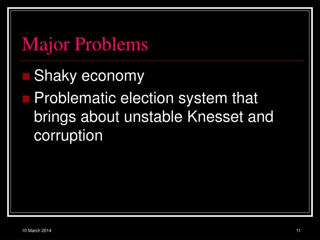 Major Problems