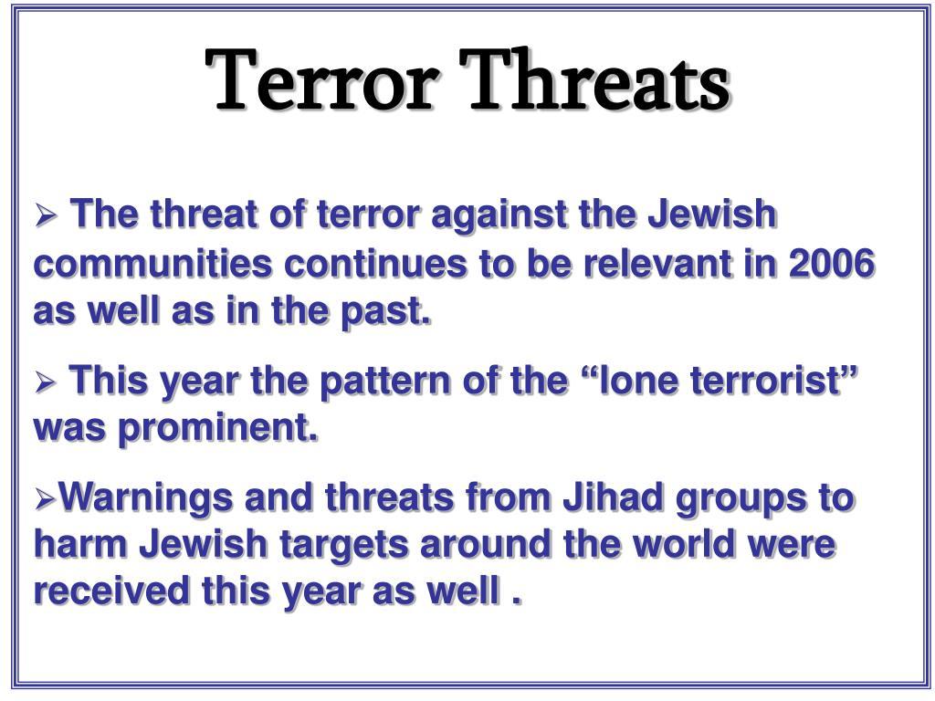Terror Threats