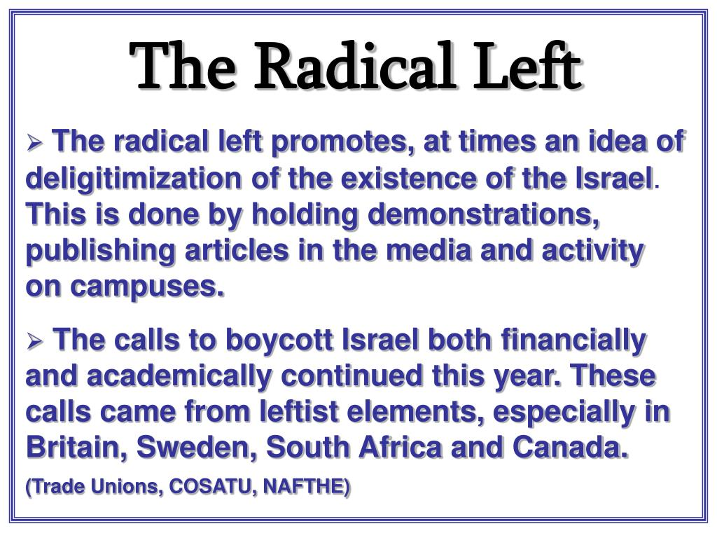 The Radical Left
