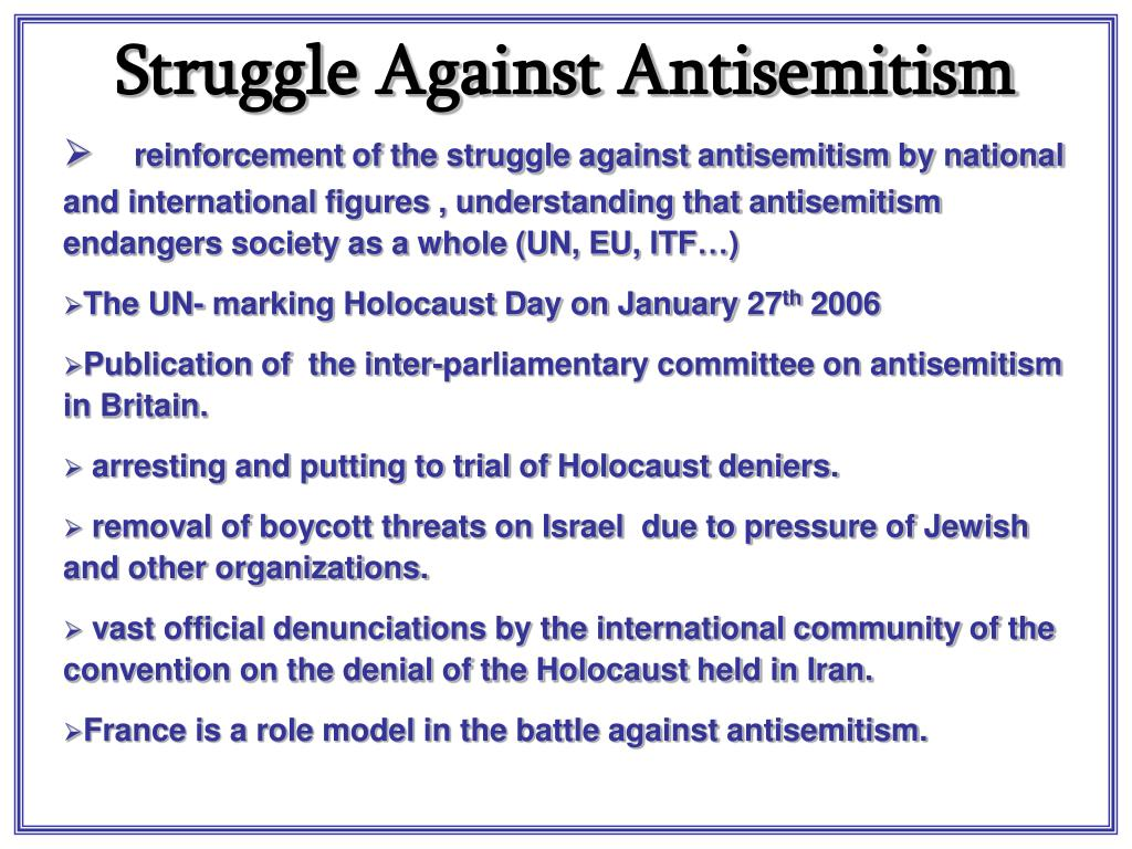 Struggle Against Antisemitism
