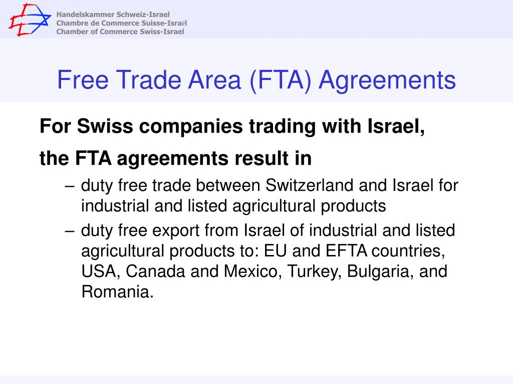 Free Trade Area (FTA) Agreements