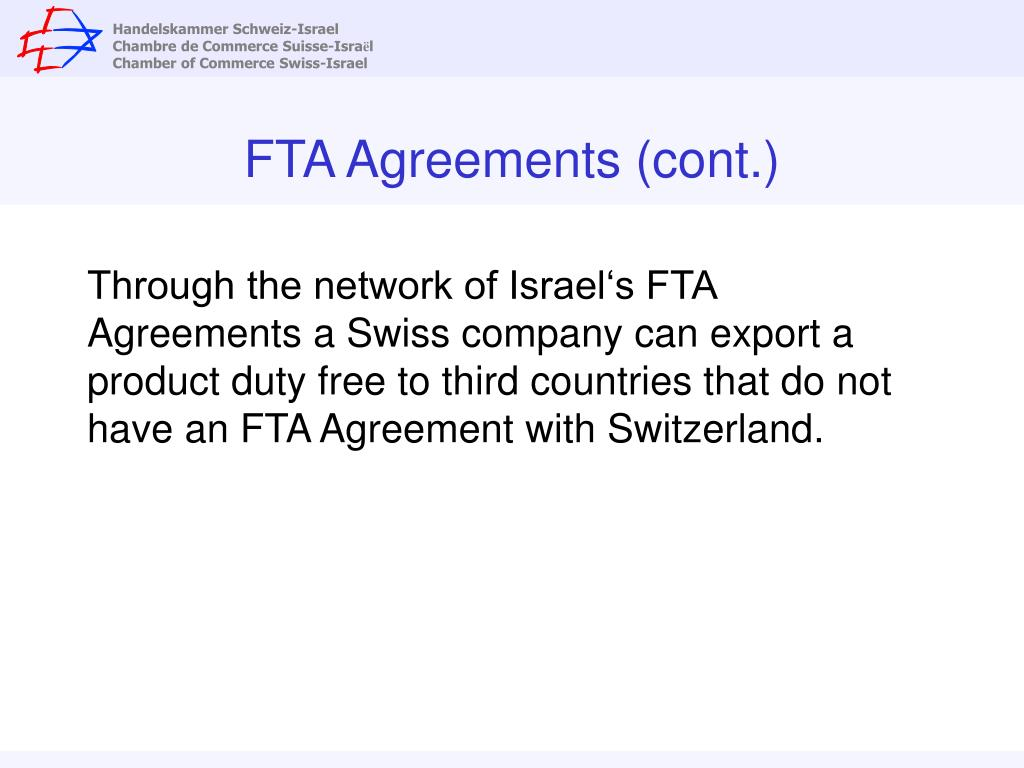 FTA Agreements (cont.)
