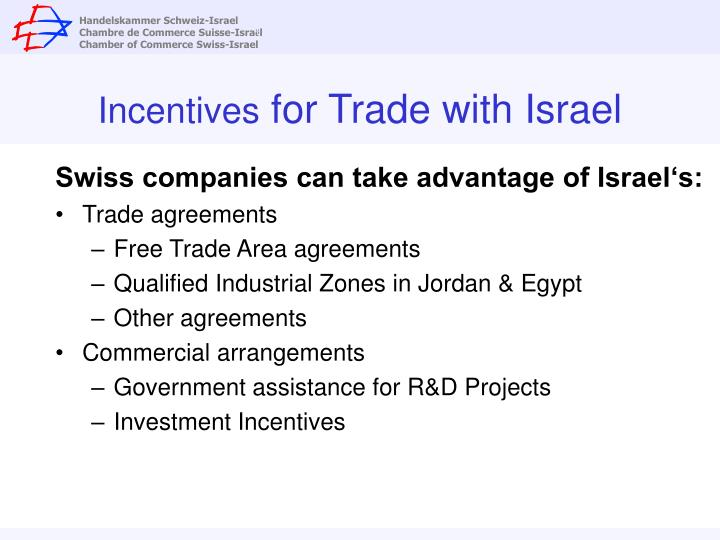 Incentives for trade with israel l.jpg