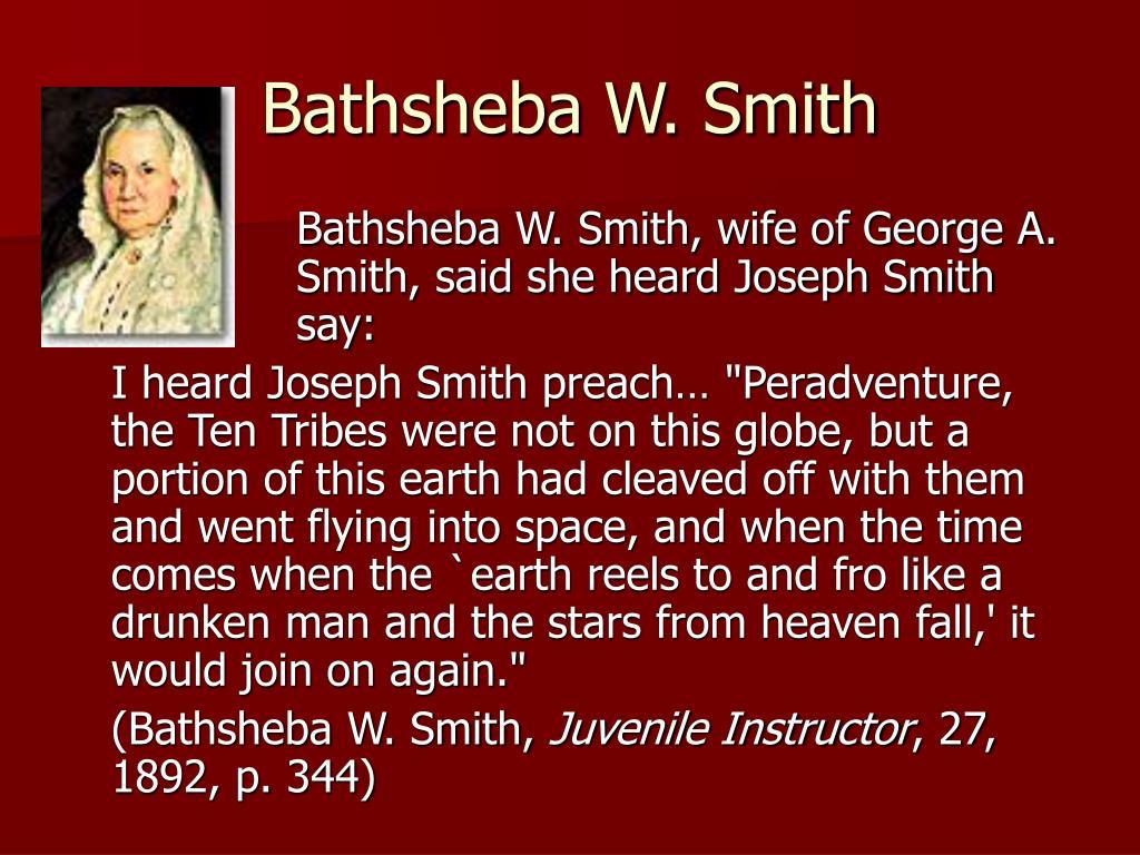 Bathsheba W. Smith