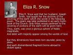 eliza r snow