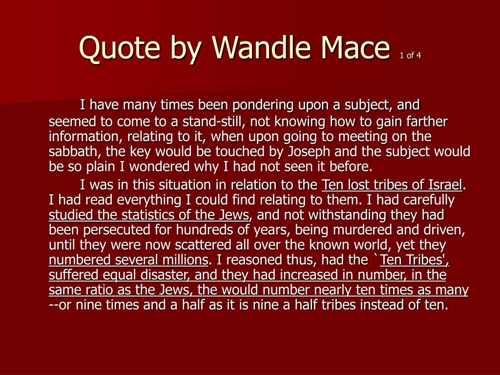 Quote by Wandle Mace