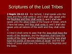 scriptures of the lost tribes