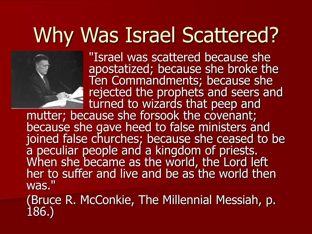 Why Was Israel Scattered?