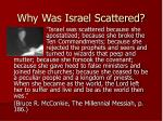 why was israel scattered