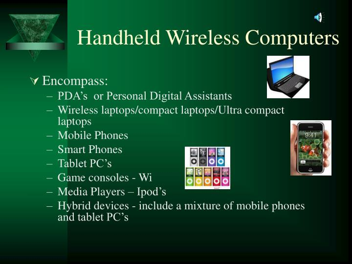 Handheld wireless computers