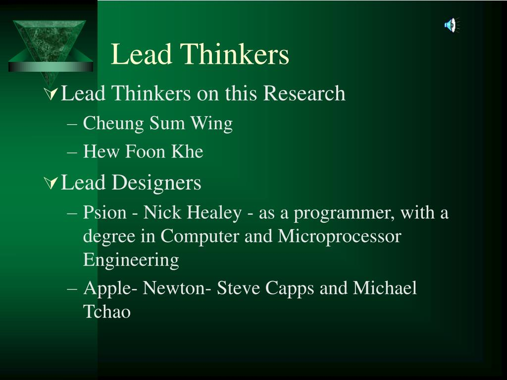 Lead Thinkers