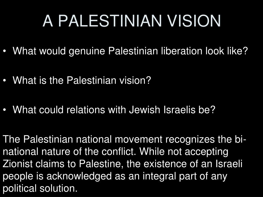 A PALESTINIAN VISION