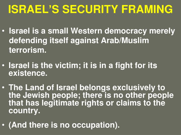 Israel s security framing