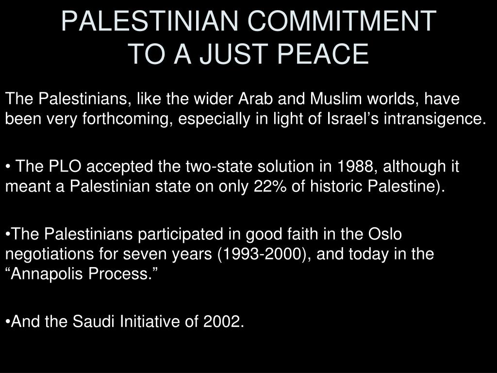 PALESTINIAN COMMITMENT