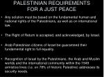 palestinian requirements for a just peace