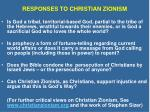 responses to christian zionism